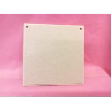 6mm MDF Plaque 125mm sq